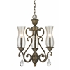3 Light Chandelier Golden Bronze