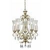 5 Light Chandelier Antique Silver
