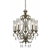 5 Light Chandelier Golden Bronze