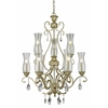 9 Light Chandelier Antique Silver