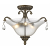 Z-Lite 3 Light Semi Flush Mount Golden Bronze