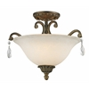 3 Light Semi-Flush Mount Golden Bronze