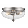 3 Light Flush Mount Brushed Nickel