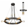 6 Light Chandelier Bronze