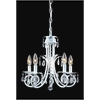 5 Light Crystal Chandelier White