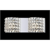 2 Light Crystal Vanity Light Chrome