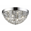 Z-Lite 4 Light Flush Mount Light Chrome