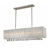 5 Light Island/Billiard Light Brushed Nickel