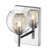 Z-Lite 1 Light Wall Sconce Mirror Stainless Steel