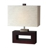 1 Light Table Lamp Mahogany Finish