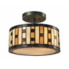 Z-Lite 3 Light Semi-Flush Mount Java bronze