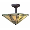 2 Light Semi-Flush Mount Chestnut Bronze