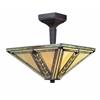 2 Light Semi-Flush Mount Chestnut Bronze