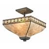 3 Light Semi Flush Mount Java Bronze