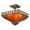 Z-Lite 3 Light Semi Flush Mount Java Bronze