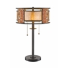 2 Light Table Lamp Bronze