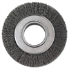 "Crimped-Wire Wheel, 6"" dia, 1 1/8"" Trim, .0118 Wire, 2"" Arbor"