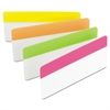 File Tabs, 3 x 1 1/2, Assorted Brights, 24/Pack