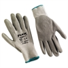 Memphis FlexTuff Latex Dipped Gloves, White/Blue, X-Large