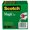 "Magic Tape, 1"" x 2592"", 3"" Core, 3/Pack"
