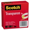 "Scotch Transparent Tape 600 2P34 72, 3/4"" x 2592"", 3"" Core, Transparent, 2/Pack"