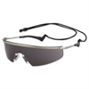 Crews Triwear Metal Protective Eyewear, Platinum Frame, Gray Anti-Fog Lens