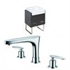 24-in. W x 20-in. D Plywood-Melamine Vanity Set In Dawn Grey With 8-in. o.c. CUPC Faucet