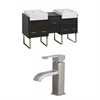 American Imaginations 62-in. W x 20-in. D Plywood-Melamine Vanity Set In Dawn Grey With Single Hole CUPC Faucet