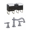 62-in. W x 20-in. D Plywood-Melamine Vanity Set In Dawn Grey With 8-in. o.c. CUPC Faucet