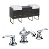 American Imaginations 72-in. W x 20-in. D Plywood-Melamine Vanity Set In Dawn Grey With 8-in. o.c. CUPC Faucet