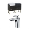 American Imaginations 48-in. W x 20-in. D Plywood-Melamine Vanity Set In Dawn Grey With Single Hole CUPC Faucet