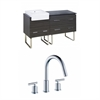 60-in. W x 20-in. D Plywood-Melamine Vanity Set In Dawn Grey With 8-in. o.c. CUPC Faucet