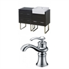American Imaginations 48-in. W x 20-in. D Plywood-Melamine Vanity Set In Dawn Grey With 8-in. o.c. CUPC Faucet