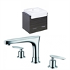 American Imaginations 24-in. W x 20-in. D Plywood-Melamine Vanity Set In Dawn Grey With 8-in. o.c. CUPC Faucet