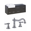 American Imaginations 60-in. W x 20-in. D Plywood-Melamine Vanity Set In Dawn Grey With 8-in. o.c. CUPC Faucet