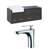 American Imaginations 60-in. W x 20-in. D Plywood-Melamine Vanity Set In Dawn Grey With Single Hole CUPC Faucet