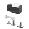 38-in. W x 20-in. D Plywood-Melamine Vanity Set In Dawn Grey With 8-in. o.c. CUPC Faucet