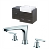 American Imaginations 38-in. W x 20-in. D Plywood-Melamine Vanity Set In Dawn Grey With 8-in. o.c. CUPC Faucet