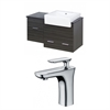American Imaginations 38-in. W x 20-in. D Plywood-Melamine Vanity Set In Dawn Grey With Single Hole CUPC Faucet