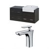 48-in. W x 20-in. D Plywood-Melamine Vanity Set In Dawn Grey With Single Hole CUPC Faucet