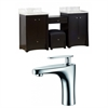 70-in. W x 18.5-in. D Birch Wood-Veneer Vanity Set In Distressed Antique Walnut With Single Hole CUPC Faucet