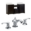 70-in. W x 18.5-in. D Birch Wood-Veneer Vanity Set In Distressed Antique Walnut With 8-in. o.c. CUPC Faucet