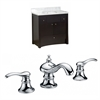 36-in. W x 18.5-in. D Birch Wood-Veneer Vanity Set In Distressed Antique Walnut With 8-in. o.c. CUPC Faucet