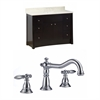 48-in. W x 18.5-in. D Birch Wood-Veneer Vanity Set In Distressed Antique Walnut With 8-in. o.c. CUPC Faucet