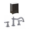 24-in. W x 18.5-in. D Birch Wood-Veneer Vanity Set In Distressed Antique Walnut With 8-in. o.c. CUPC Faucet