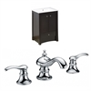 32-in. W x 18.5-in. D Birch Wood-Veneer Vanity Set In Distressed Antique Walnut With 8-in. o.c. CUPC Faucet
