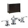 American Imaginations 48-in. W x 18.5-in. D Birch Wood-Veneer Vanity Set In Distressed Antique Walnut With 8-in. o.c. CUPC Faucet