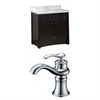 36-in. W x 18.5-in. D Birch Wood-Veneer Vanity Set In Distressed Antique Walnut With Single Hole CUPC Faucet