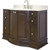 48-in. W x 22-in. D Birch Wood-Veneer Vanity Set In Walnut