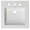 American Imaginations 21.5-in. W x 17.75-in. D Ceramic Top In White Color For 8-in. o.c. Faucet